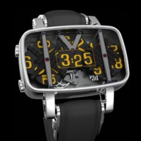 4N Mechanical Digital Watch uses three rotating discs to indicate time.