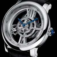 Cartier Astrotourbillon Skeleton has tourbillon seconds indicator. 1