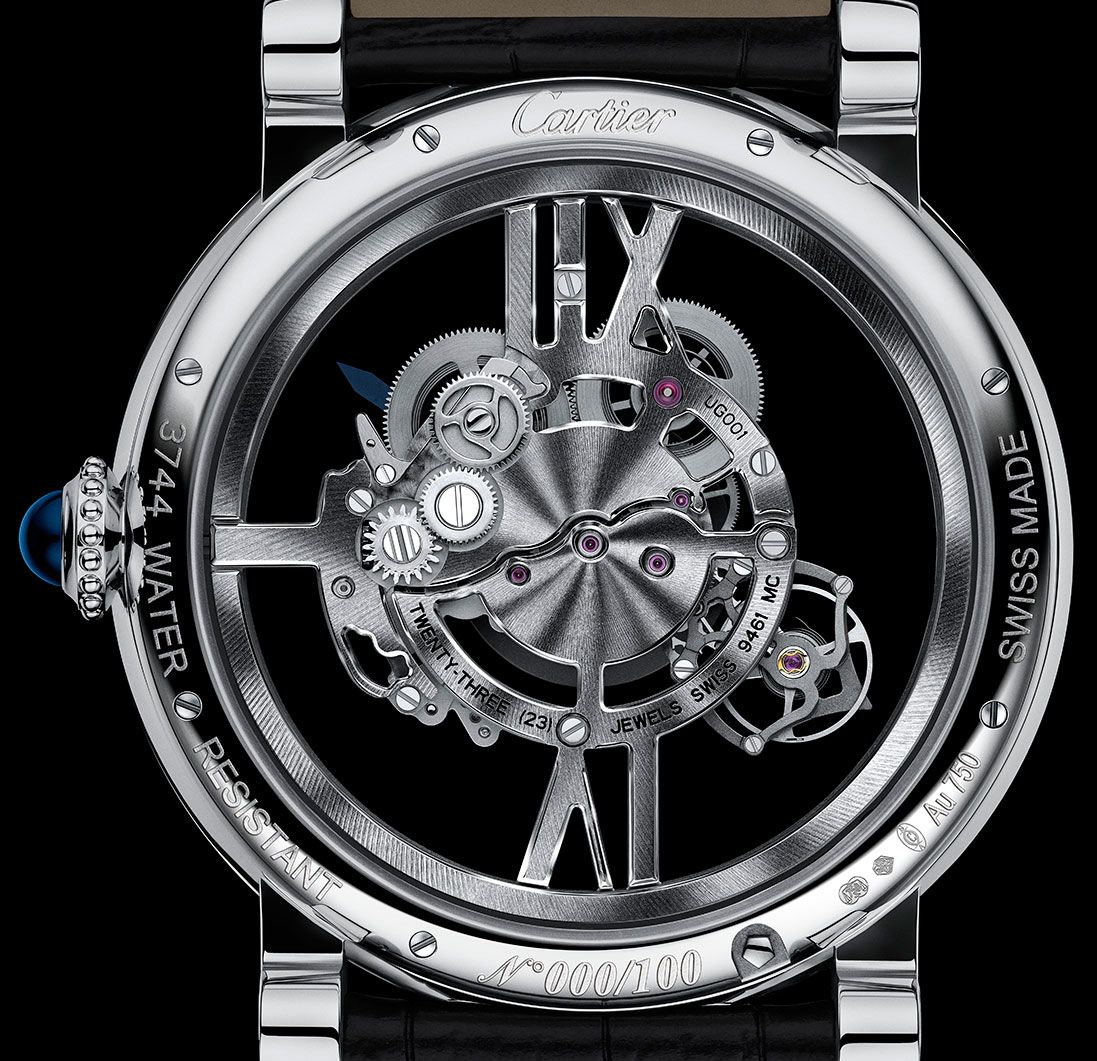 Cartier Astrotourbillon Skeleton back
