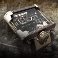 Steampunk version of Devon Tread 1 Belt Driven Watch