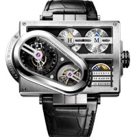 Harry Winston Histoire de Tourbillon No.3 bristles with triple tourbillons.