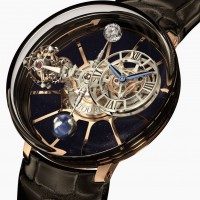 Astronomia Tourbillon has four arm carousel and miniature galaxy. 1