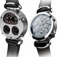 Korloff Voyageur Kalahari Edition. Split personality watch features 5 movements.