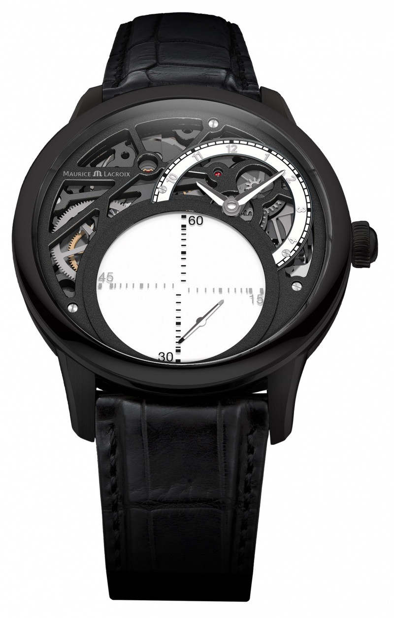 maurice lacroix masterpiece Seconde Mysterieuse in Black