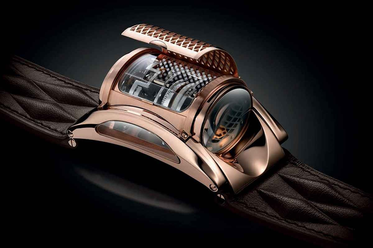The new Parmigiani Revelation has grille to cover the face.