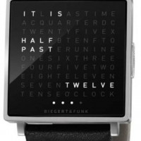 "Worlds first ""wristwatch in words"" the Qlocktwo. 2"