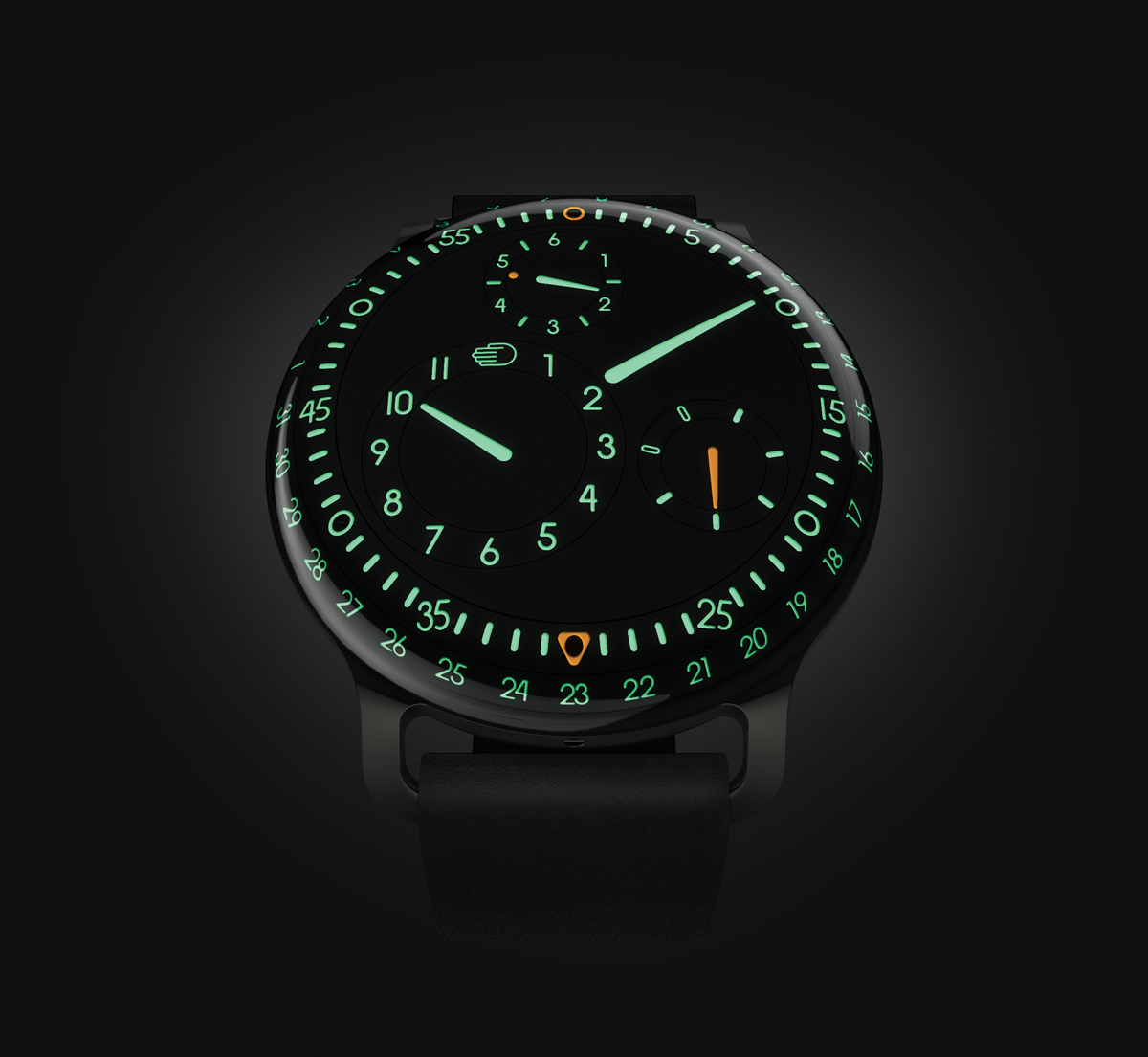 Ressence type 3 liquid filled watch gives dial illusion for Luminescence watches