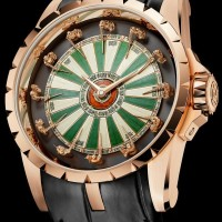 Knights of the round table act as hour markers on Roger Dubuis Excalibur Table Ronde watch.  1