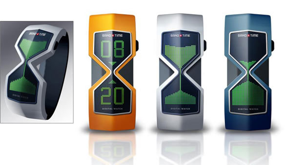 Digital Hourglass Watch