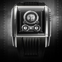 "Slyde OPTIKA inspired by 1902 French silent film ""A Trip to the Moon"" and Rolleiflex camera. 1"