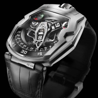 Urwerk UR-210 Maltese Falcon features the worlds-first winding efficiency indicator. 1