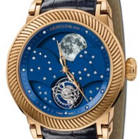 Arnold & Son Grand Moon Tourbillon has hand painted moon phase, diamond constellations.
