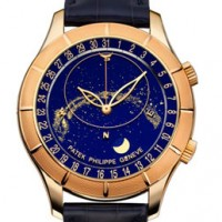 Patek Philippe Celestial uses superimposed layers of sapphire crystal disks.