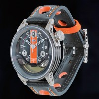 B.R.M watch filled with motor oil from Lola racing car 1