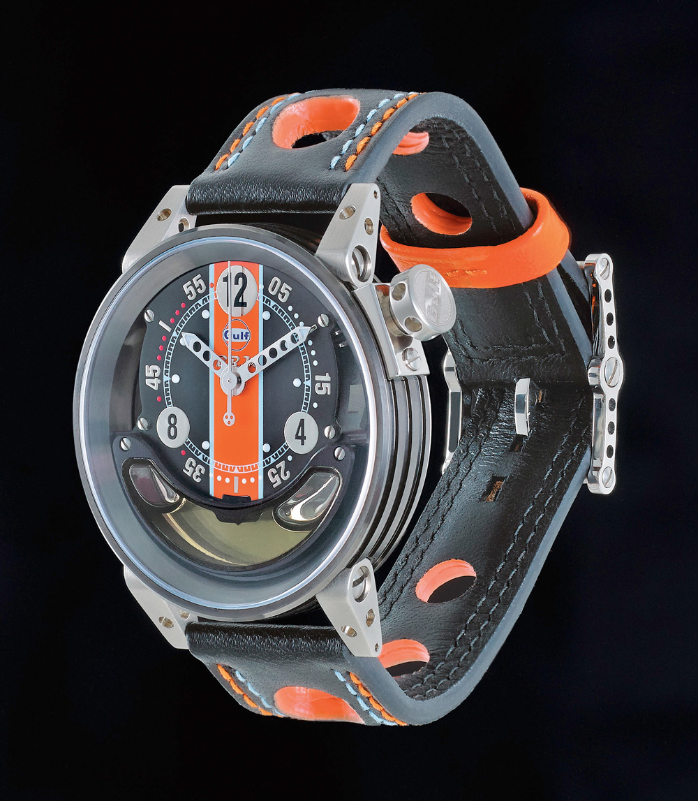 B R M Watch Filled With Motor Oil From Lola Racing Car