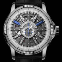 Spinning markers indicate time on the Harry Winston Opus 12