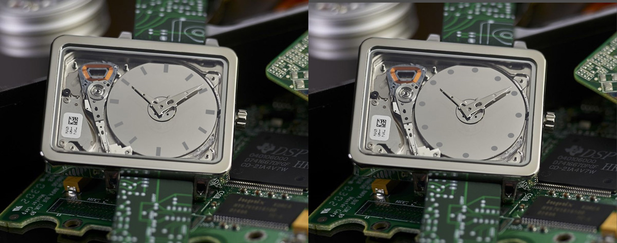 HDD watch with indexes