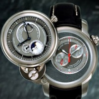 "Michel Jordi ""Twins"": Two watches in one."