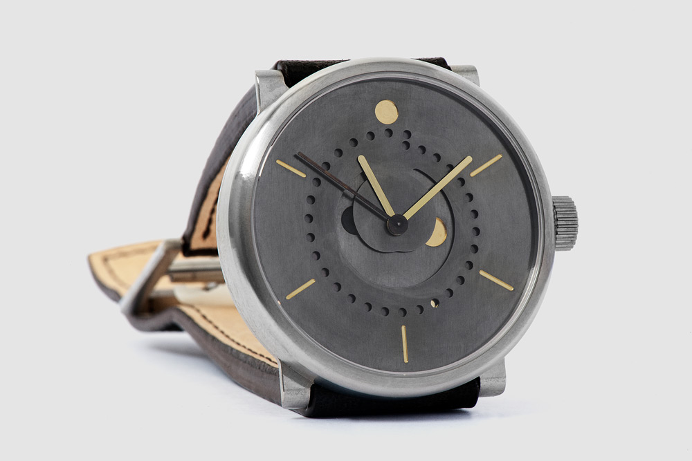 Ochs and Junior Moonphase watch Selene Front angle