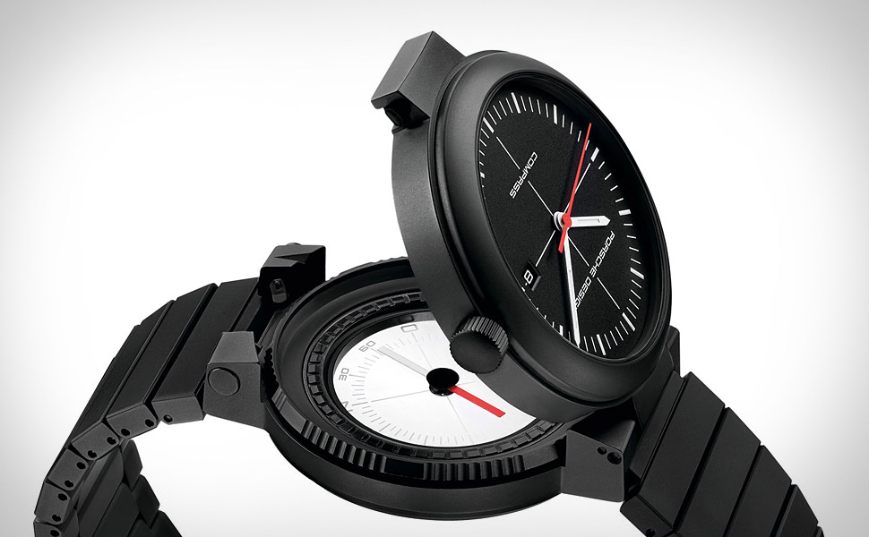 Porsche design p6520 compass watch for Watches with compass