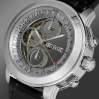 Quinting Transparent Watch. Sapphire crystal discs indicate time.
