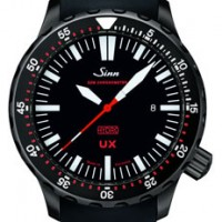 Sinn UX. Submarine steel case and phenomenal water resistance.