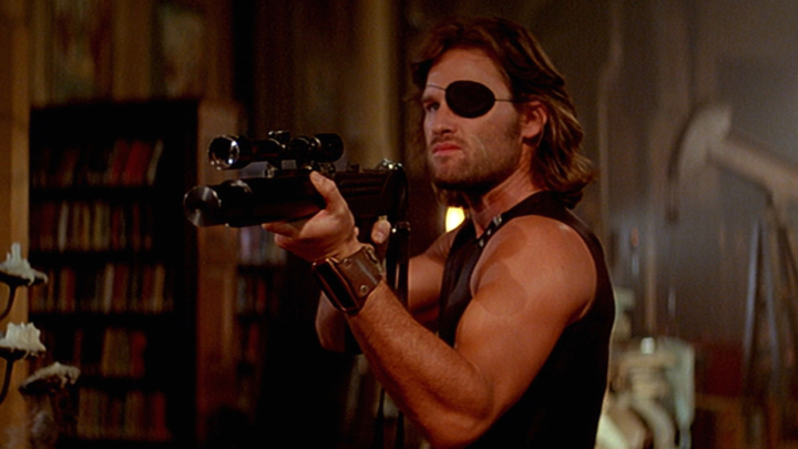 Kurt Russel as Snake Plissken