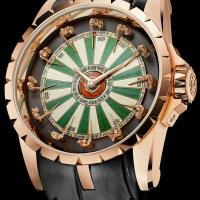 Knights of the round table act as hour markers on Roger Dubuis Excalibur Table Ronde watch.