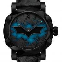 Romain Jerome Batman watch features the bat signal.