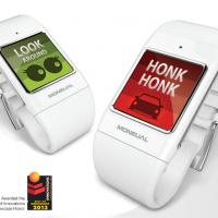 Smartwatch identifies sounds and converts them into alerts.